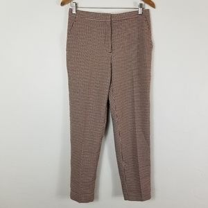 H&M houndstooth straight leg cropped trouser pant